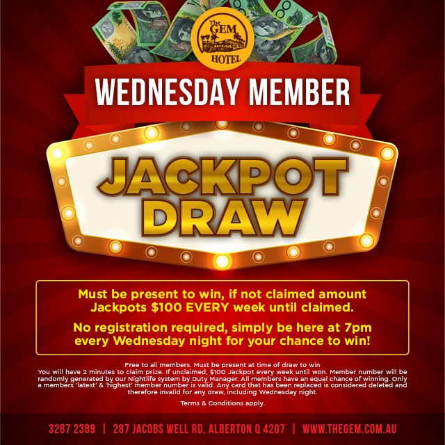 GEM Wednesday night draw 2018